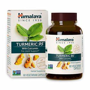 Himalaya Turmeric 95 with Curcumin |13,081mg de poudre par gélule | superfood qui favorise la mobilité/digestion/immunité | antioxydant naturel | 60 capsules vegan | Pour 2 mois