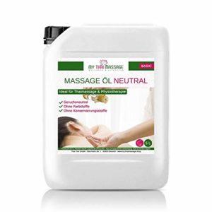 Huile pour massage sans parfum neutre 5l (5000ml) – MyThaiMassage – Huile pour massage Thaï la physiothérapie Spa Wellness Thai