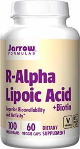 Jarrow Formulas, Acide lipoïque R-alpha, la biotine, 60 Capsules Végétales