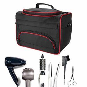Kit de salon de beauté à la mode à grande capacité, peut être incliné pour faciliter le transport du sac(Noir)