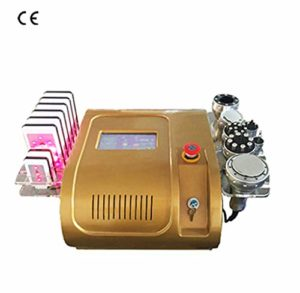 Laser minceur Machine sous vide RF soins de la peau Salon Spa équipement 40 k ultrasons liposuccion Cavitation 8 tampons