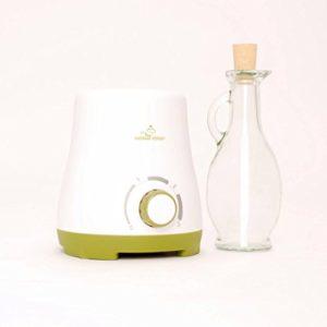 Le chauffe huile de massage de MASSAGE-EXPERT, Avec carafe de verre de 250 ml