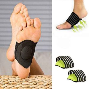 Lorsoul 1 Paire Arche de Compression de Massage Soutien Coussinets Pied, pour Pieds Plats Verts