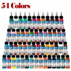 LregonXawk Tatouage 54 unités de pigments de couleurs de tatouage de base for le tatouage 1 oz 30 ml/bouteille for le tatouage de fournitures de tatouage de haute qualité