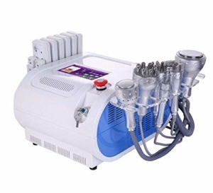 Machine mince multifonctionnelle 6 in 1 de laser de beauté de station thermale de vide de Cavitation ultrasonique, 8 tampons perte de poids beauté minceur Machine