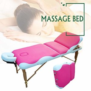 Massage Portable Pliage beauté Maison moxibustion physiothérapie Tatouage lit Corps en Bois Massif Salon Spa