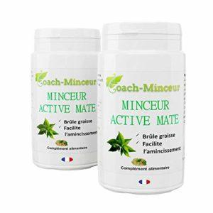 MATE | Minceur Active | Puissant Brûleur de Graisse | Perte de Poids | Contre la Fatigue et le Cholestérol | Ventre Plat | 180 gélules | Un livret minceur Offert