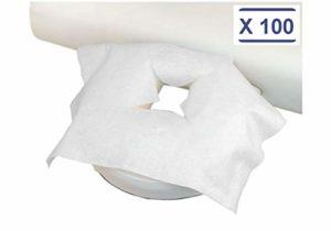 MFB Provence® – Housse protège tétière jetable pour table de massage par 100
