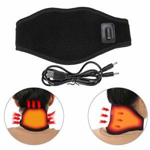 Minerve infrarouge lointain Soulager La Douleur Du Cou – Coussin chauffant enveloppant la nuque avec température réglable et cordon USB,Traitement physique chauffé Maux de tête Col