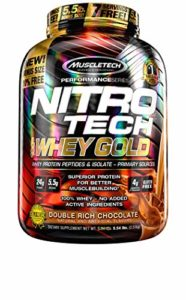 Muscletech FID45623 Performance Series Nitro Tech 100% Whey Gold Double Rich Chocolate