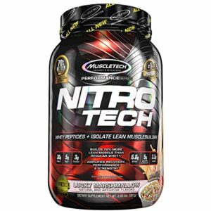 Muscletech FID46387 Performance Series Nitro-Tech Protéines Whey Lucky Marshmallow