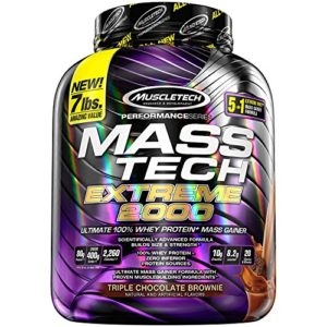 Muscletech FID48392 Performance Series Mass Tech Extreme 2000 Protéines Whey Triple Chocolate Brownie
