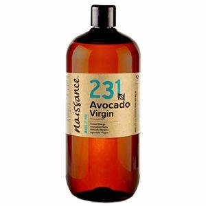 Naissance Huile d'Avocat Vierge (n° 231) – 1 litre – 100% pure, naturelle, non-raffinée et pressée à froid – végan, non testée sur les animaux