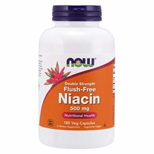 Niacine, Flush-Free, Double Strength, 500 mg, 180 Vcaps – Now Foods