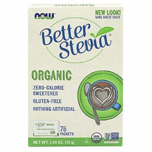 NOW Foods – Better Stevia Zero Calorie Sweetener Certified Organic – 75 Packet(s)