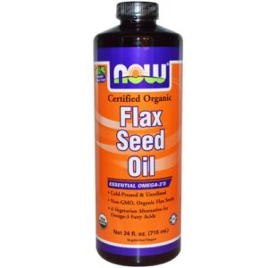 NOW Foods – Flax Seed Oil Organic Non-GE – 24 oz.