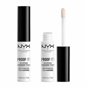 NYX Professional Makeup Base de Fards à Paupières Proof It! avec Applicateur, Formule Incolore et Waterproof, Lot de 2