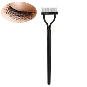PIXNOR Peigne et Brosse Cosmétique pour Sourcil Cils Outil de Maquillage (Noir)