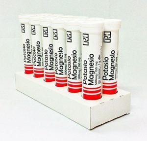 POTASSIUM ET MAGNÉSIUM PH 500 mg / 150 mg. Paquet de 12 tubes de 20 comprimés effervescents.
