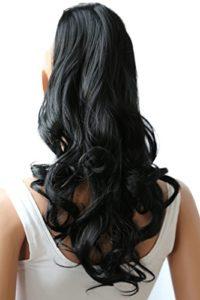 PRETTYSHOP Postiche postiche queue de cheval ondulée extension de cheveux queue de cheval 60 cmnoir # 1 HC9-1