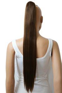 PRETTYSHOP Postiche queue de cheval d'extension de cheveux queue de cheval chaleur lisse résistant 70 cm brun # 9 H159