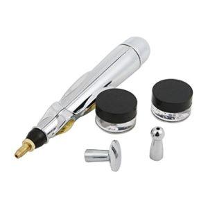 ROSENICE Stylo de Massage Stylo de massage Meridian Energy Pen outils de soulagement de la douleur (Argent)