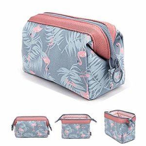 Sacs cosmétique de Tpocean, sacs portatifs de maquillage de voyage Pinceau Pouch Trousse de toilette Trousse de stockage de voyage composent Pochette de cas pour les femmes