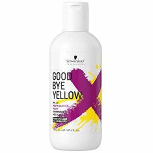 Schwarzkopf -Shampooing Good Bye Yellow Le Premier Shampooing Dejaunissant à Forte Concentration De Pigment 300 ml
