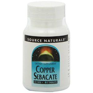 Sébacate de cuivre – 22 mg – 60 comprimés
