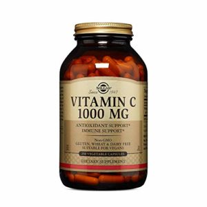 Solgar Vitamin C 1000 mg Vegetable Capsules, 250 V Caps 1000 mg