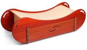 Sound wave Padouk 70cm wide with monochord and slit drum for sound massage
