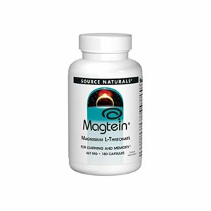 Source Naturals – Magtein Magnésium L-Threonate 667 mg – 180 Capsules