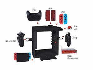 Station de chargement multifonction Support de rangement pour support de disque de jeu Cradle Pour N-Switch Commutateur de stockage pour poignée de rack Support de rangement pour balles Wizard