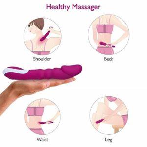 STLOVE Vibromasseur Avec Auto-Chauffage | Massager Électrique | 8 Modes de vibration + Silicone Médical + USB Charge + Étanche | Vibrateur Femme & Couple (Pourpre)