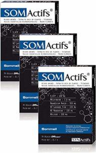SYNActifs – SOMactifs – Complément alimentaire pour retrouver un sommeil serein et naturel – Mélatonine, Acides Aminés, Huiles essentielles microencapsulées et des Plantes – Lot de 3 x 30 Gélules(3)