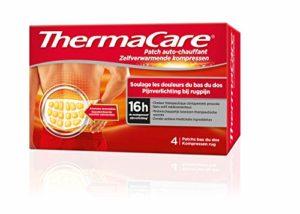 ThermaCare – Patch Auto-chauffant Dos – Soulage les douleurs du bas du dos – 8H de chaleur constante – Boîte de 4 patchs dos