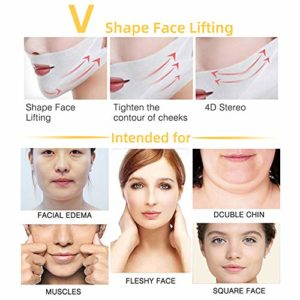 V lifting Masque,Double Chin Réducteur,masque de levage en V pour masque de levage à double couche intense