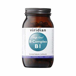 Viridian HIGH ONE Vitamin B1 with B-Complex , 90 Veg bouchons