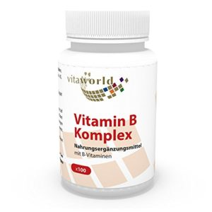 Vita World Vitamine B complex 100 Capsules Vit B Made in Germany