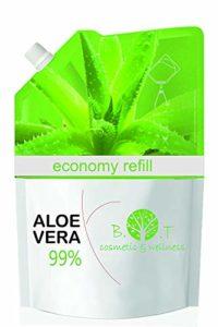 100% Naturel Gel de Aloe Vera Hydratant Visage Corps Cheveux Après l'épilation Soins des peaux déshydratées Feu du rasage Brulure après un bain de soleilRecharge économique GEL ALOE VERA 99% 250 ml