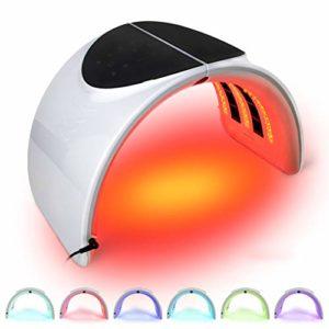 7 LED Couleur Photon Therapy Machine de Rides enlèvement Anti-âge Soins du Visage Pliable Machine de beauté Traitement