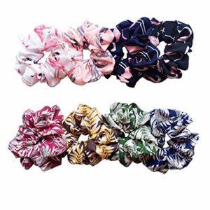 8pcs Bandes de Cheveux Élastiques en Mousseline de Soie,Attache de Queue de Cheval Porte-Cravate Attaches de Cheveux Pour Les Liens de Cheveux Pour Les Femmes Ou Les Filles