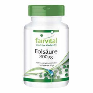 Acide folique 800µg – 250 comprimés