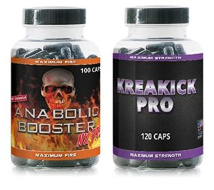 Anabolic Booster NX Pro–100capsules + Krea Kick Pro–120capsules–Développement musculaire Pack d'