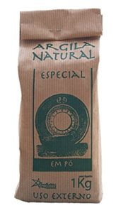 Argila Natural Em Pó–Argile Verte Française–Poudre pour Masques et gommage–100% naturel–1kg
