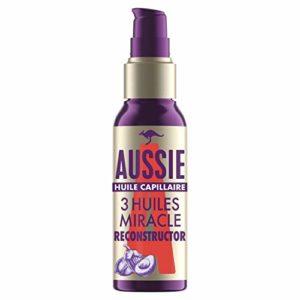 Aussie3Miracle Huile Capillaire Reconstructor, Soin Ultra Léger, Pour Cheveux Secs Et Abîmés,100ml