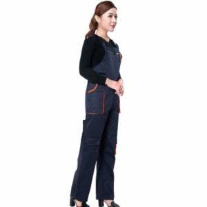 BAOBAO QUELLIA Hommes Femmes Combinaison de Protection Réparateur Sangle Combinaisons Pantalons De Travail Uniformes Plus La Taille Combinaisons Sans Manches (S)