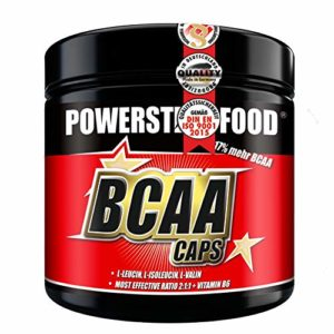 BCAA CAPS – 300 Caps – dans le rapport le plus fort 2:1:1 – L-leucine, L-isoleucine et L-valine microcristallines pour la construction et le maintien musculaires – Fabriqué en Allemagne