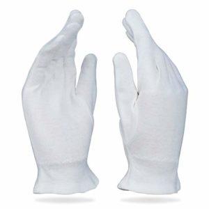 Beauty Care Wear Moyen Gants en Coton Blanc pour Eczéma, Peau Sèche et Hydratant – 20 gants