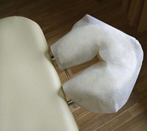 bodyworkzone PROTEGE-TETIERE (Couverture/Protection jetable pour têtière de table de massage), 100 Pièces